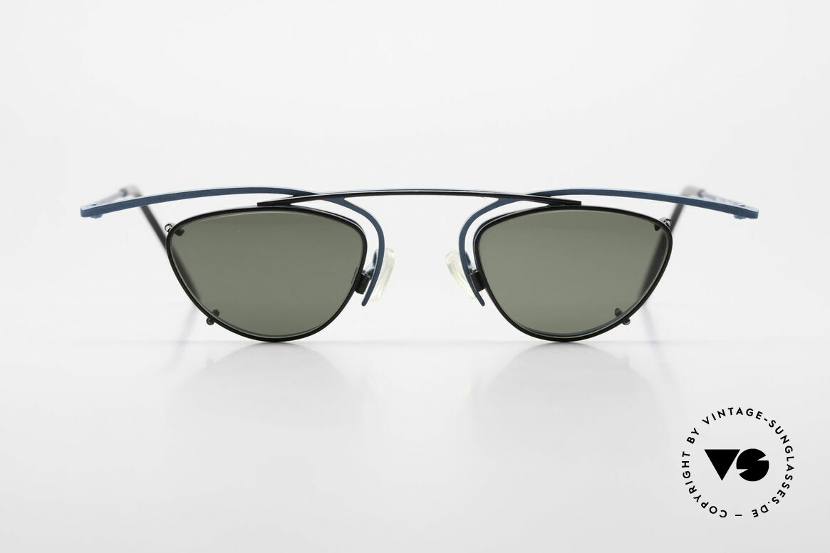 Theo Belgium Rhum Designer Glasses With Clip On, striking glasses with CLIP-ON; for 100% UV protection, Made for Men and Women
