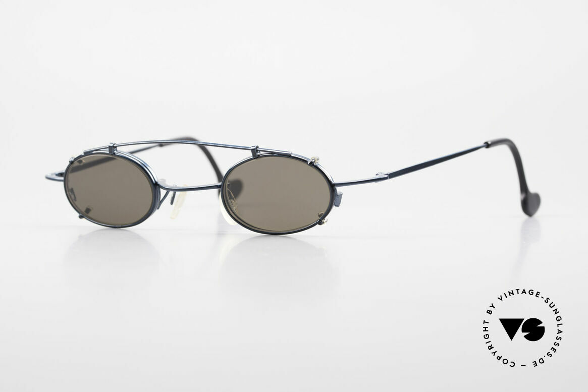 Theo Belgium Peter Oval Eyeglasses With Clip On, classic oval 90's designer eyeglasses by THEO Belgium, Made for Men and Women