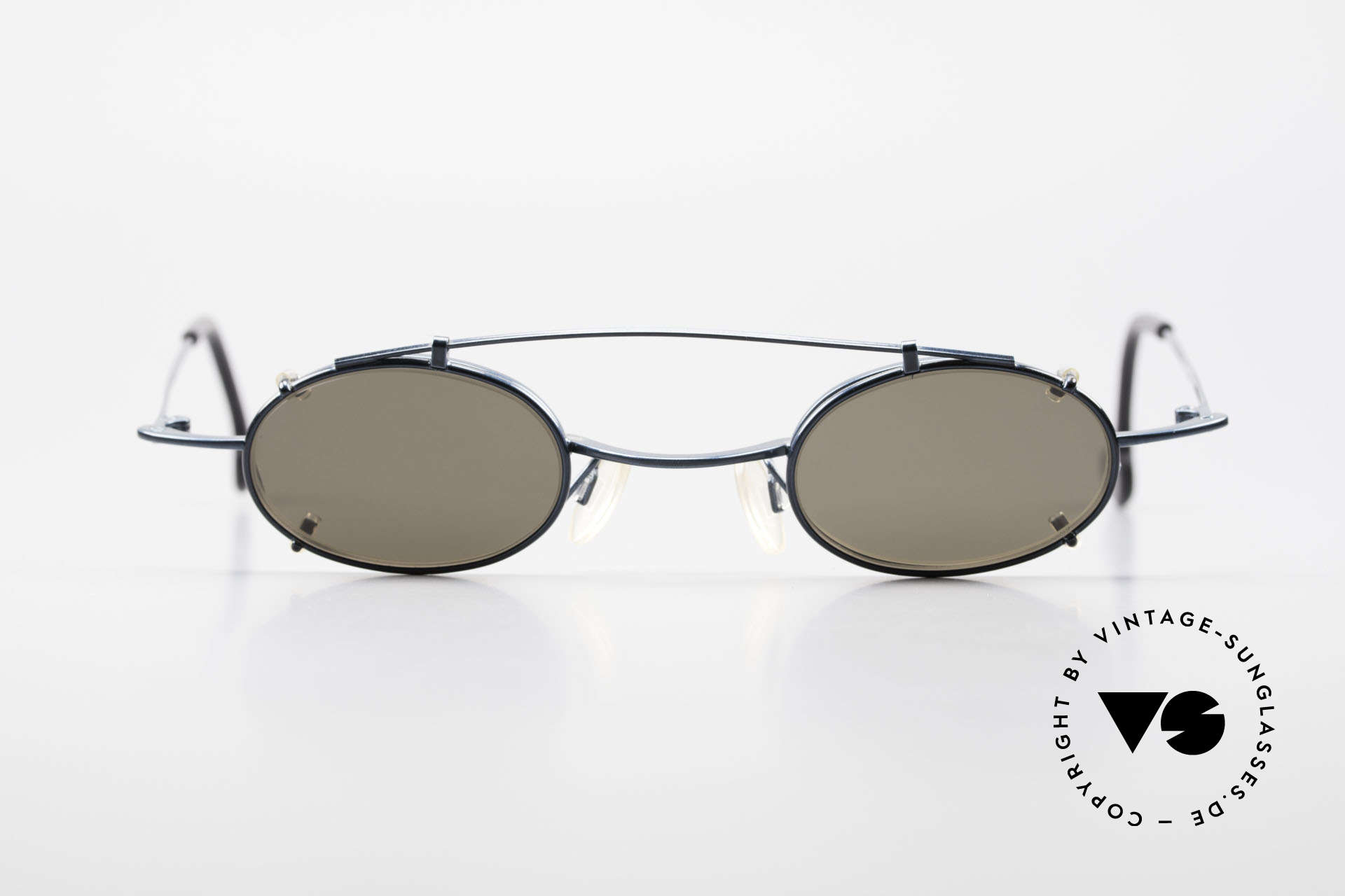 Theo Belgium Peter Oval Eyeglasses With Clip On, UNISEX glasses with CLIP-ON; for 100% UV protection, Made for Men and Women