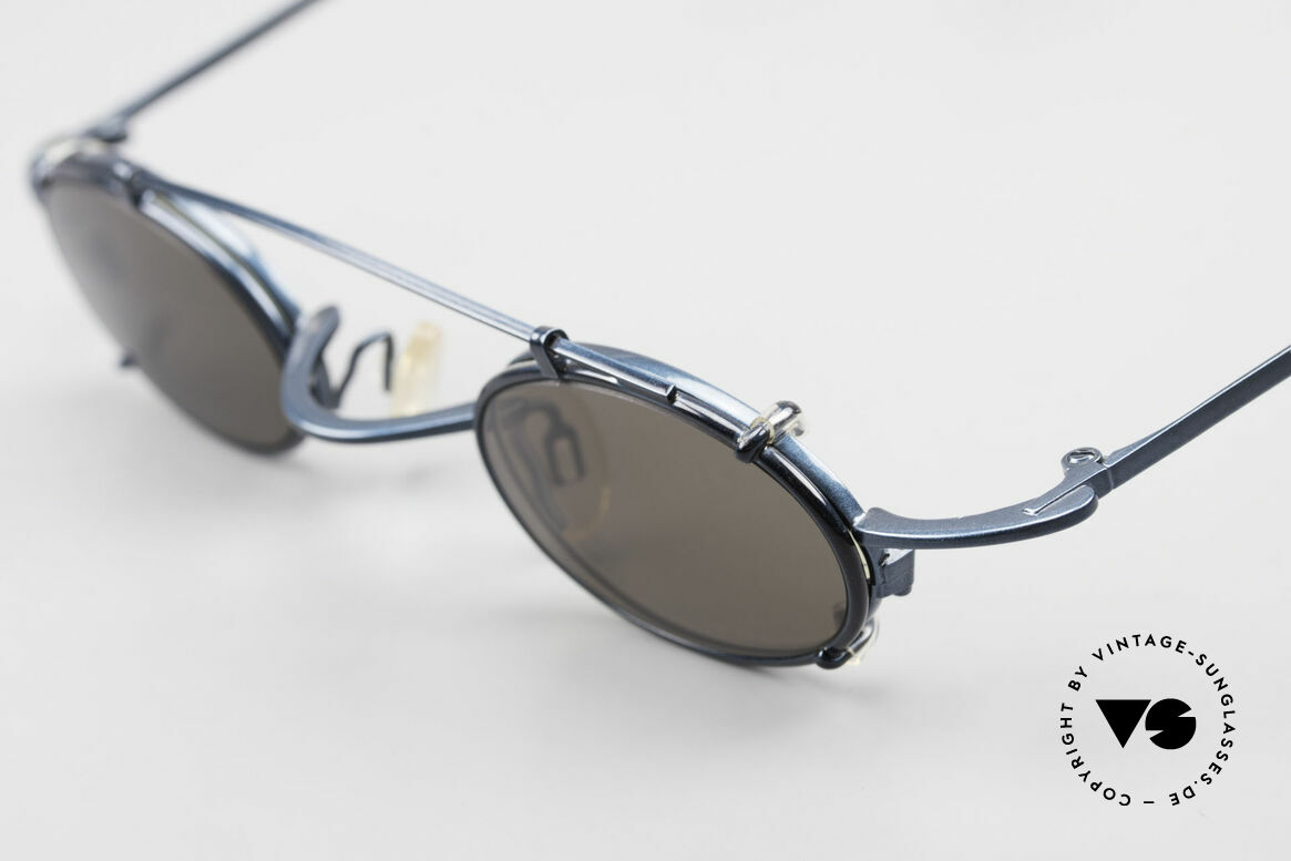 Theo Belgium Peter Oval Eyeglasses With Clip On, Theo creations are 'opposite pole' to the 'mainstream', Made for Men and Women