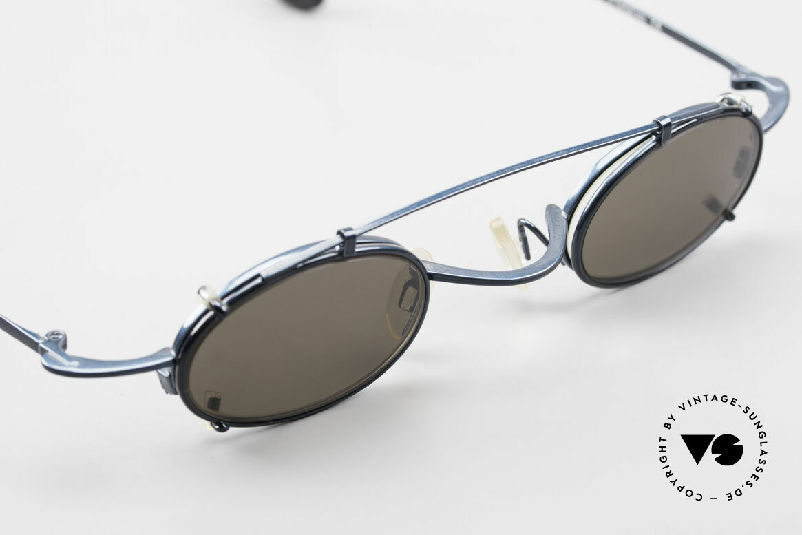 Theo Belgium Peter Oval Eyeglasses With Clip On, unworn, one of a kind (like all our rare vintage specs), Made for Men and Women