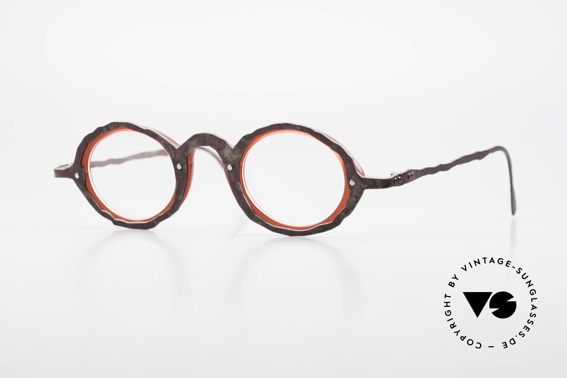 Theo Belgium Eye-Witness GG Avant-Garde Eyeglasses 90's, vintage Theo eyeglasses of the fancy Eye-Witness series, Made for Men and Women