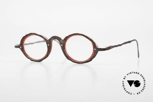 Theo Belgium Eye-Witness GG Avant-Garde Eyeglasses 90's Details