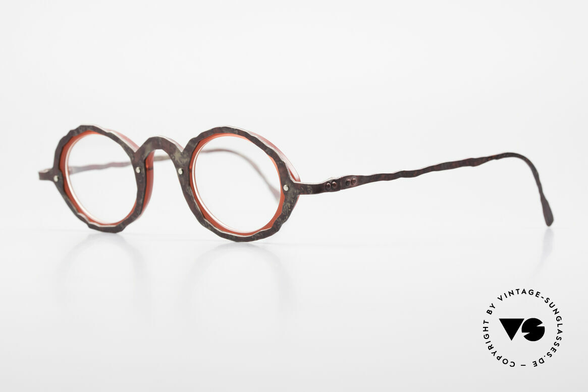 Theo Belgium Eye-Witness GG Avant-Garde Eyeglasses 90's, but in real they are sophisticated made, unique rarities!, Made for Men and Women