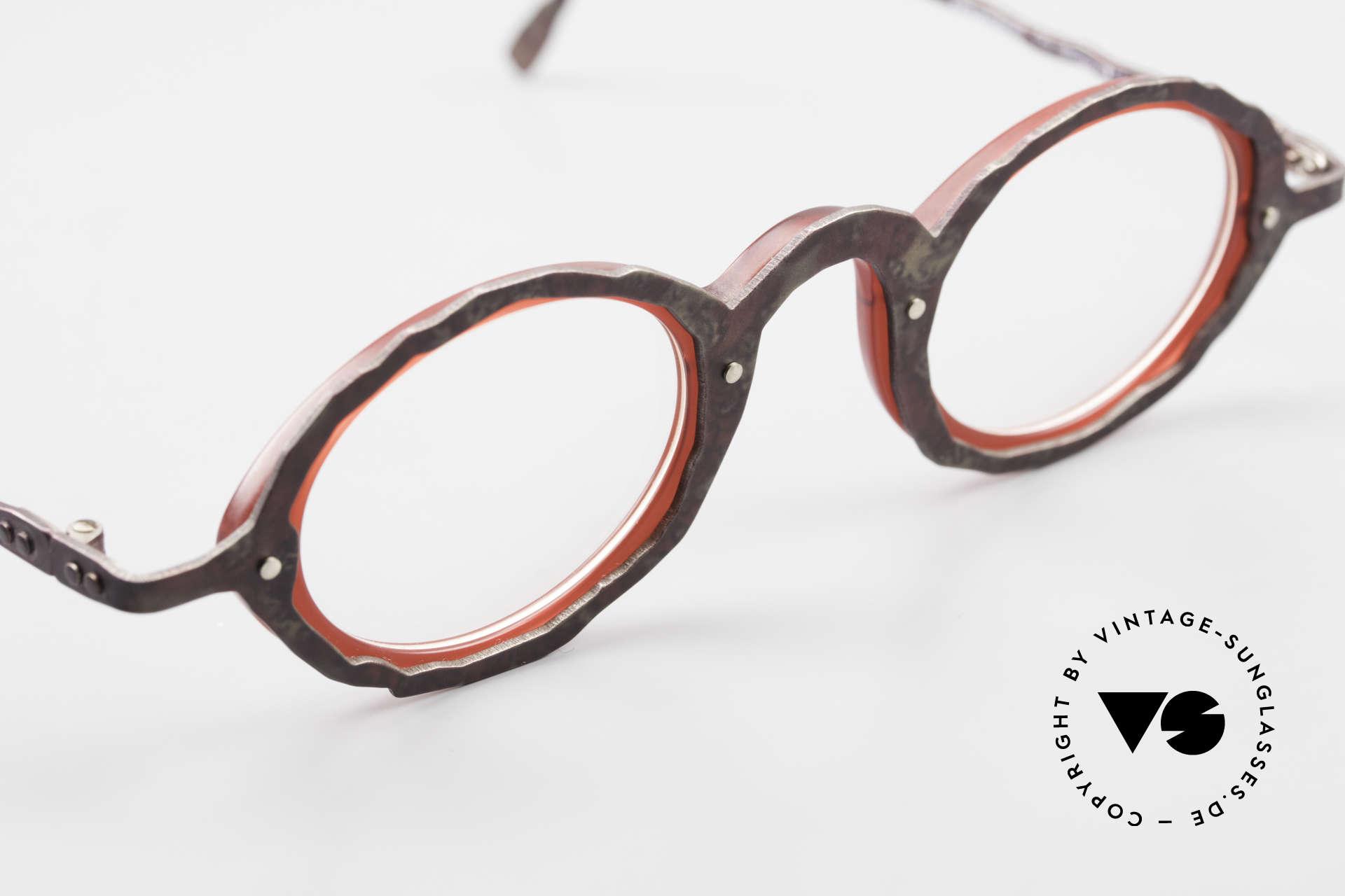 Theo Belgium Eye-Witness GG Avant-Garde Eyeglasses 90's, unworn, one of a kind (like all our vintage Theo eyewear), Made for Men and Women