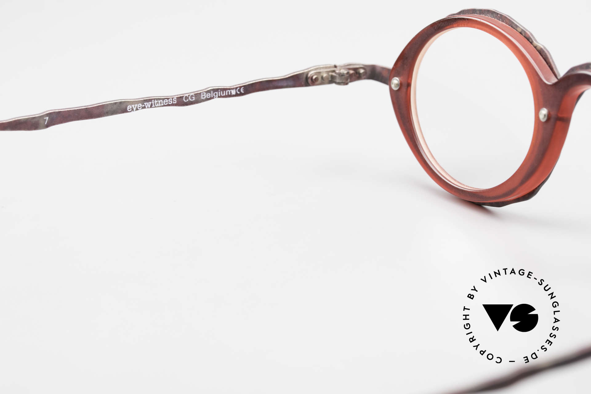 Theo Belgium Eye-Witness GG Avant-Garde Eyeglasses 90's, NO RETRO EYEGLASSES, but a rare old 1990's ORIGINAL, Made for Men and Women