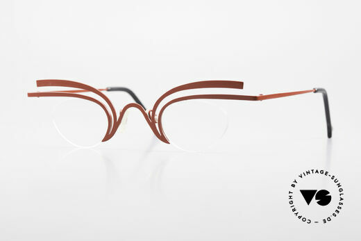 Theo Belgium Fly Crazy Vintage Ladies Glasses Details