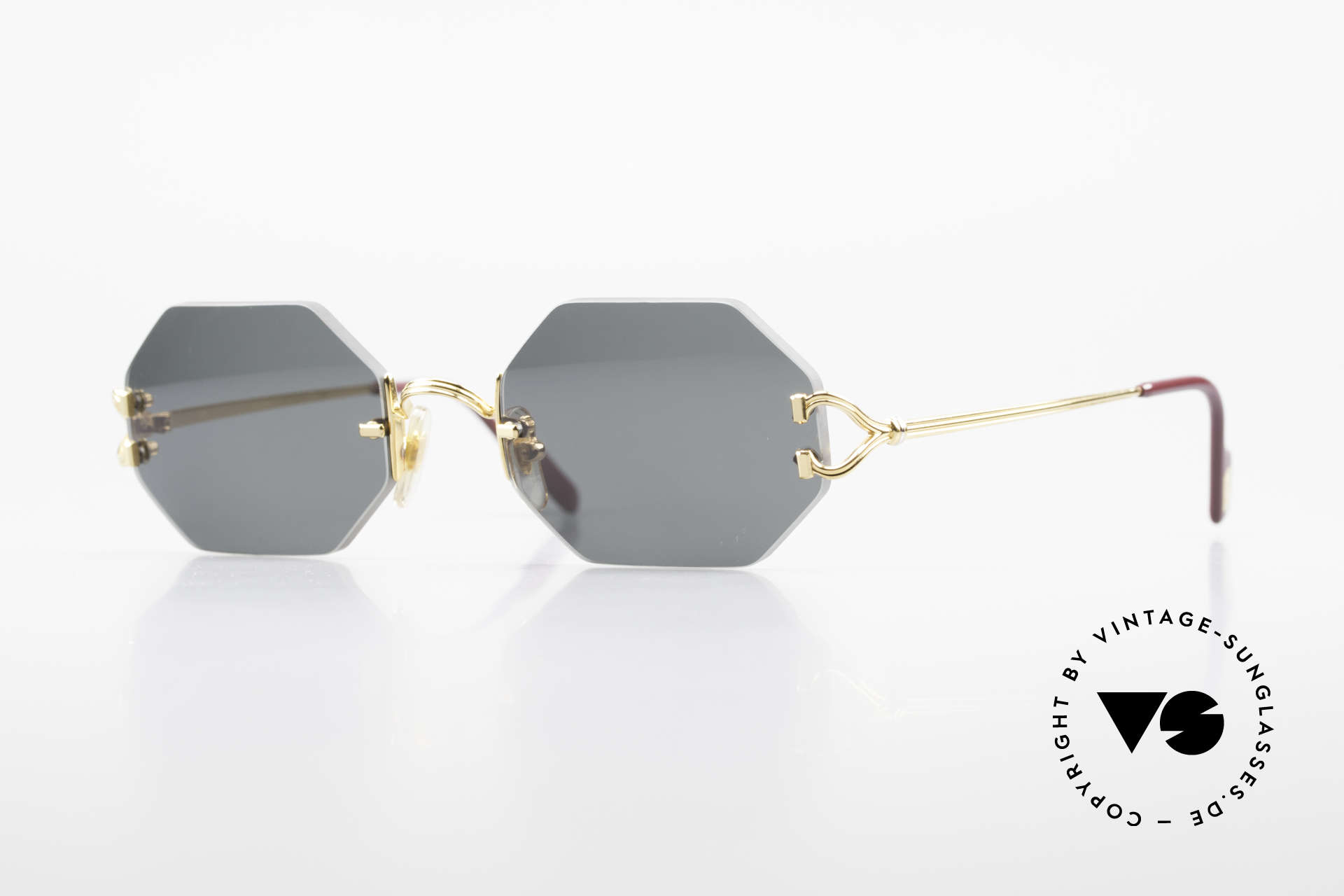 Cartier Rimless Octag Rimless Octagonal Shades - L, octagonal rimless CARTIER luxury shades; unicum!, Made for Men and Women