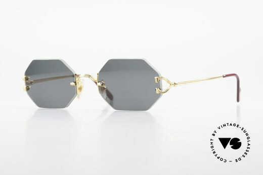 Cartier Rimless Octag Rimless Octagonal Shades - L Details