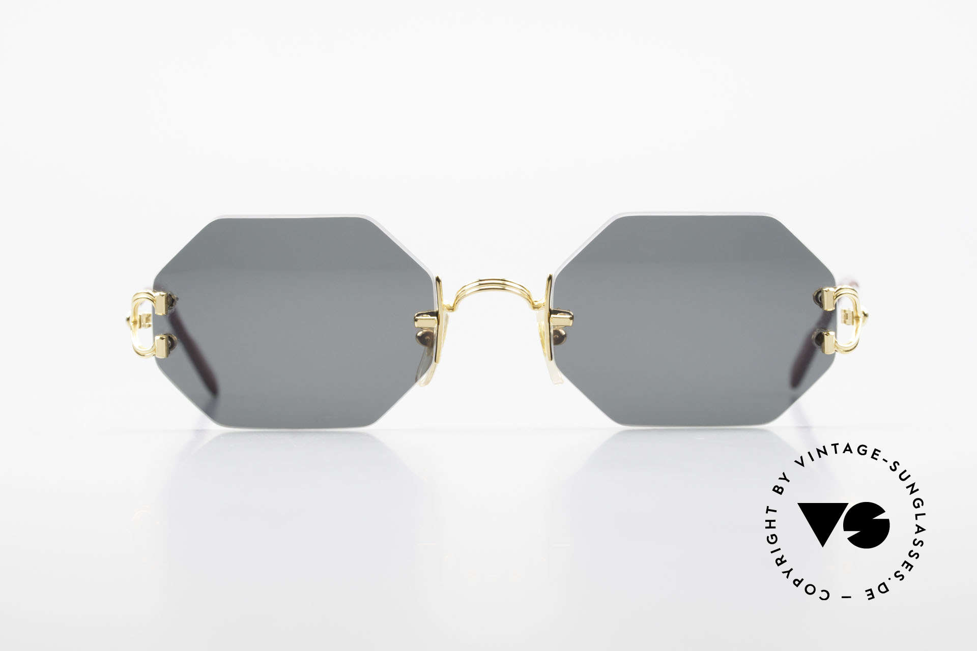 Cartier Rimless Octag Rimless Octagonal Shades - L, model of the rimless series with new OCTAG lenses, Made for Men and Women