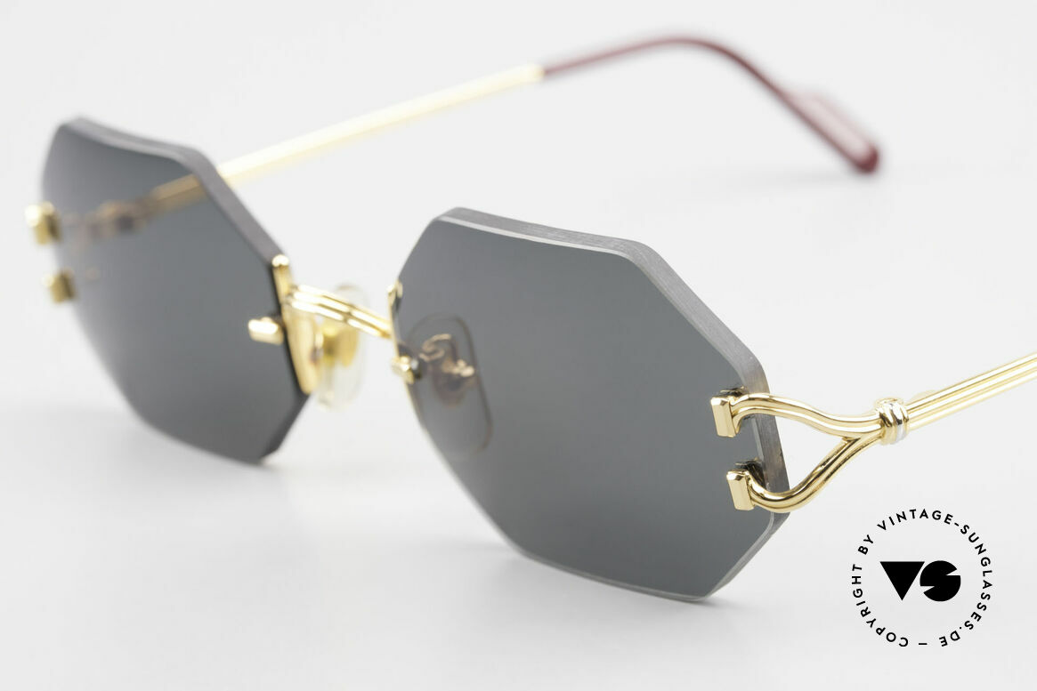 Cartier Rimless Octag Rimless Octagonal Shades - L, precious OCTAG designer shades; 22kt GOLD-plated, Made for Men and Women