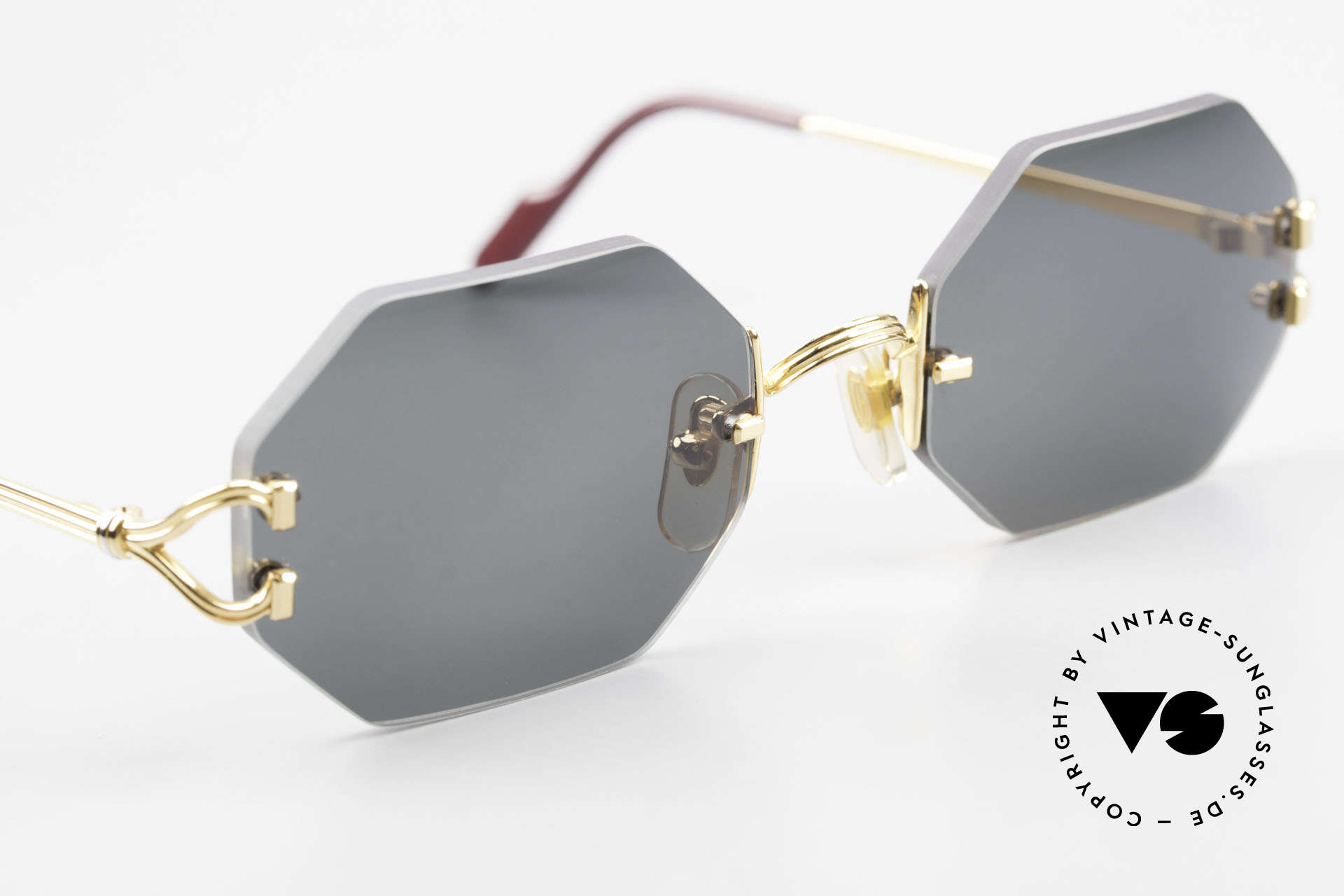 Cartier Rimless Octag Rimless Octagonal Shades - L, unworn rarity comes with new orig. Cartier packing, Made for Men and Women