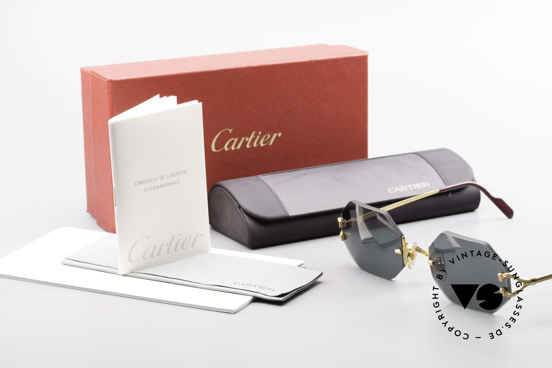 Cartier Rimless Octag Rimless Octagonal Shades - L, NO RETRO, but a RARE old ORIGINAL, one of a kind!, Made for Men and Women