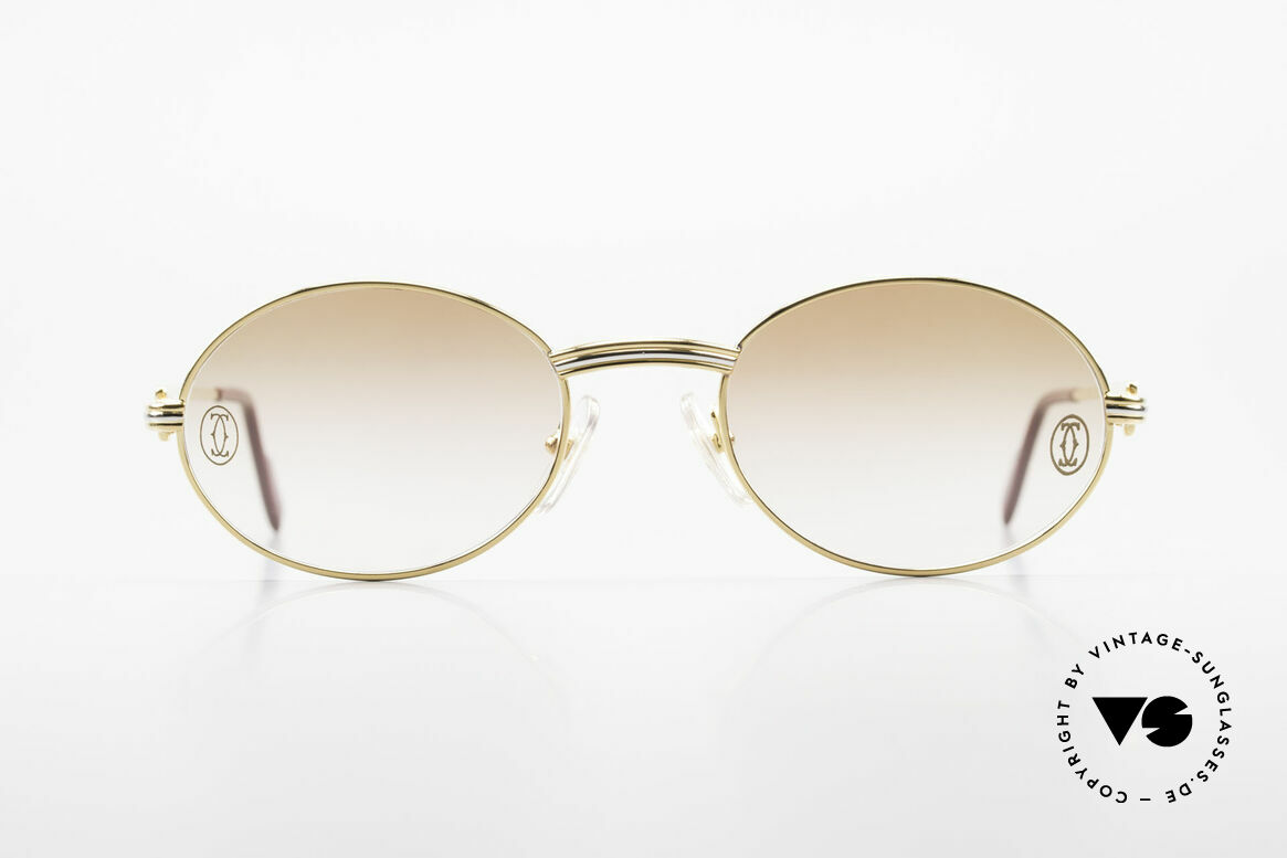 Cartier Saint Honore Customized Version Large Size, oval VINTAGE CARTIER sunglasses from app. 1998, Made for Men