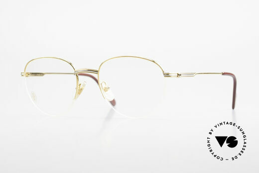 Cartier Colisee Round Luxury Eyeglasses 90's Details