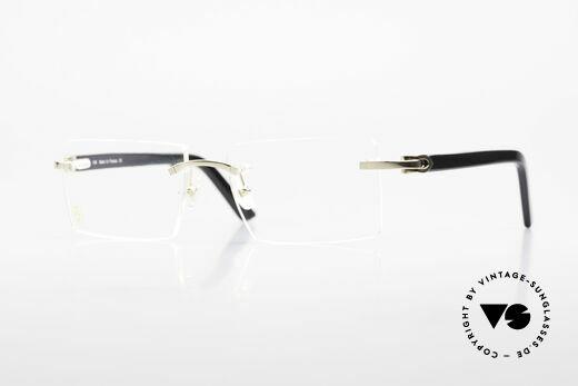 Cartier Canazei Rimless Luxury Frame Square Details