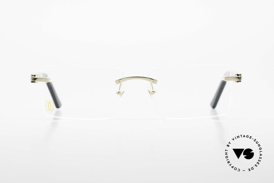 Cartier Canazei Rimless Luxury Frame Square, rimless glasses of the 'DÉCOR C Combined' Collection, Made for Men and Women