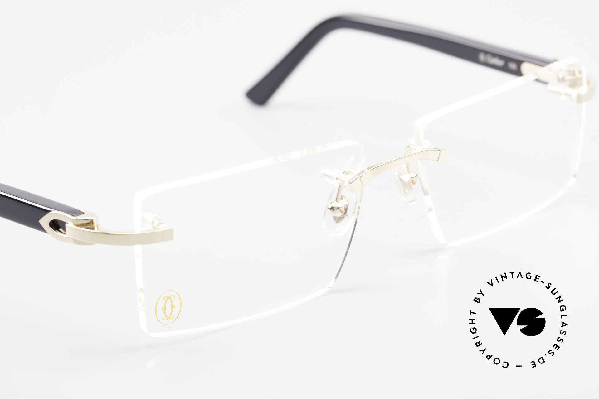 Cartier Canazei Rimless Luxury Frame Square, NO retro eyeglasses; an old original from app. 2008!, Made for Men and Women