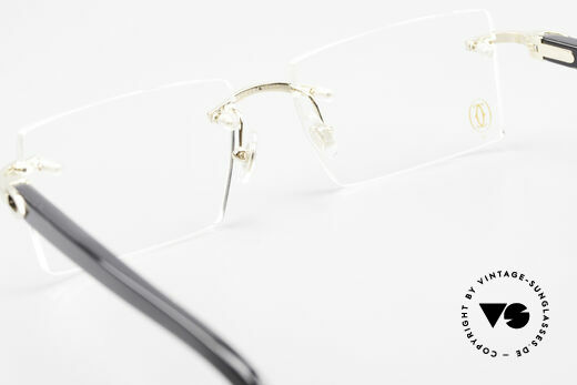 Cartier Canazei Rimless Luxury Frame Square, orig. Cartier DEMO lenses can be replaced optionally, Made for Men and Women
