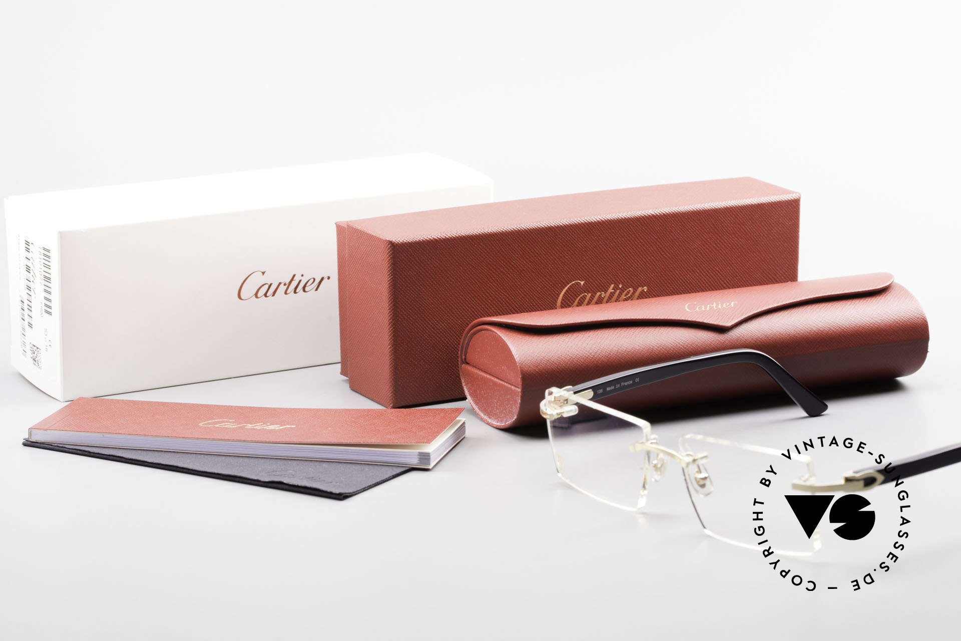 Cartier Canazei Rimless Luxury Frame Square, Size: medium, Made for Men and Women