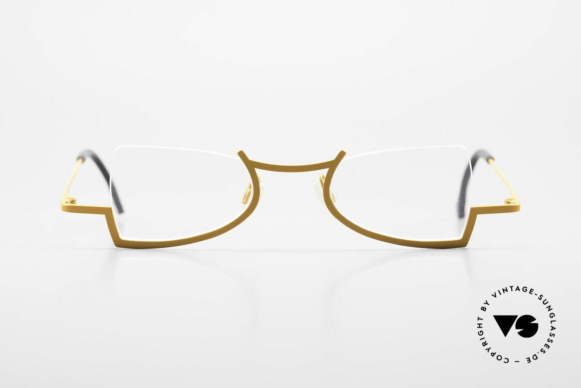 Theo Belgium Kyuu Crazy Reading Glasses Titanium, enchanting ladies glasses; full of verve; fancy rarity, Made for Women