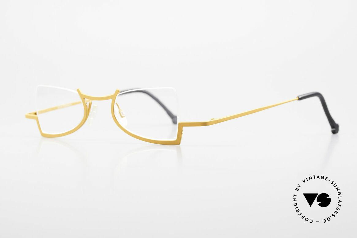 Theo Belgium Kyuu Crazy Reading Glasses Titanium, lightweight & very comfortable, pure TITANIUM frame, Made for Women