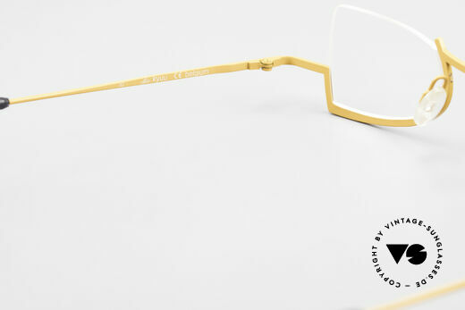 Theo Belgium Kyuu Crazy Reading Glasses Titanium, NO RETRO EYEWEAR, but a 25 years old Theo original, Made for Women