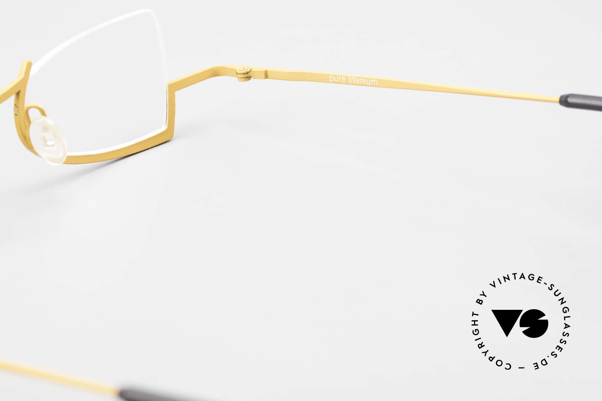 Theo Belgium Kyuu Crazy Reading Glasses Titanium, Size: medium, Made for Women