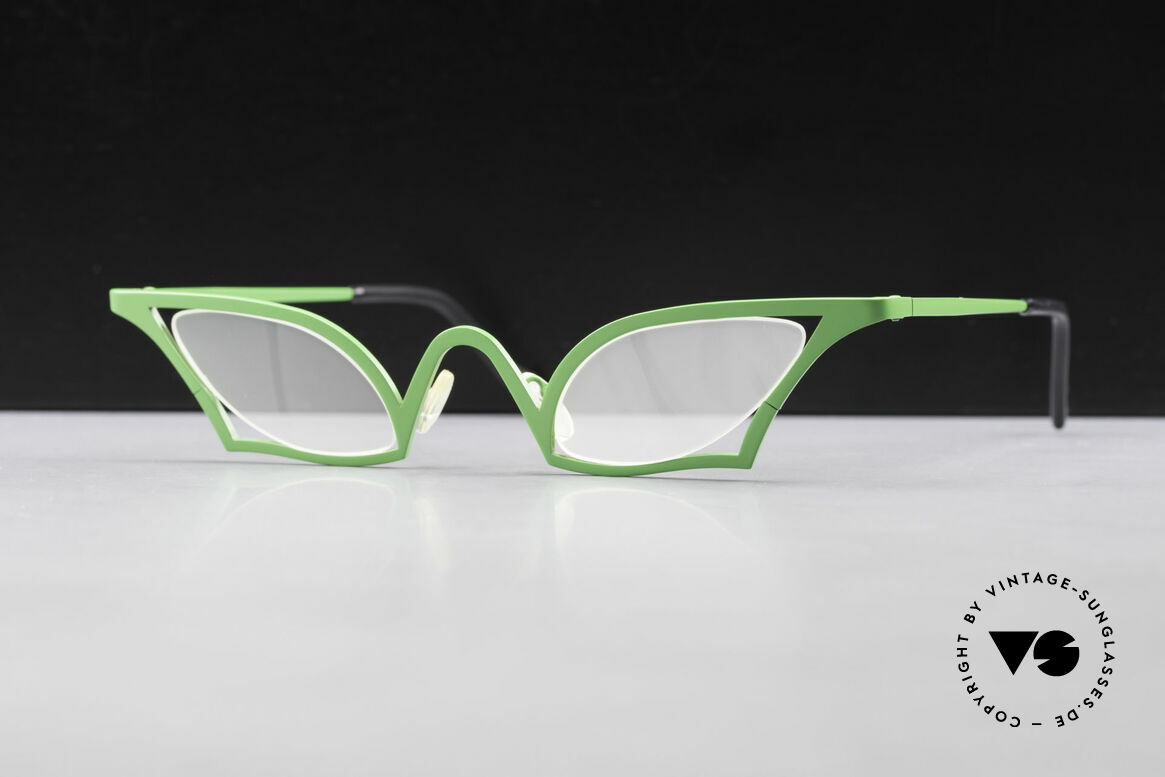 Theo Belgium James Cateye Crazy Reading Glasses, eye-catching 90s reading eyeglasses by Theo Belgium, Made for Women
