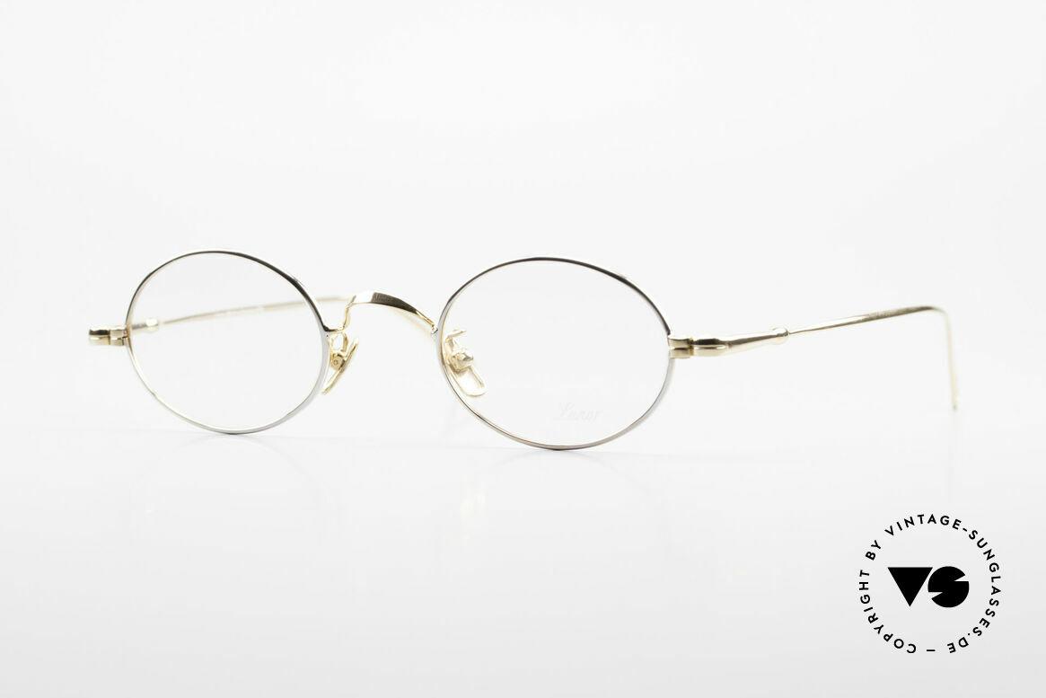 Lunor V 100 Oval Vintage Glasses Bicolor, LUNOR: honest craftsmanship with attention to details, Made for Men and Women