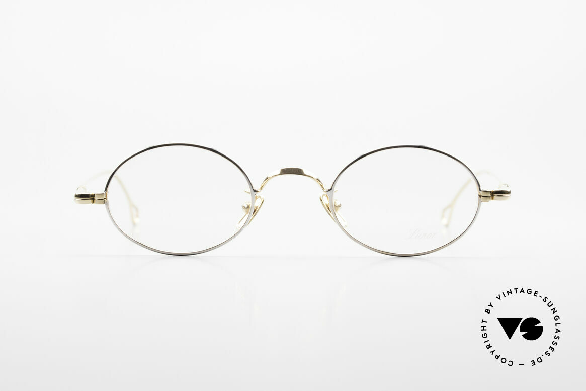 Lunor V 100 Oval Vintage Glasses Bicolor, without ostentatious logos (but in a timeless elegance), Made for Men and Women