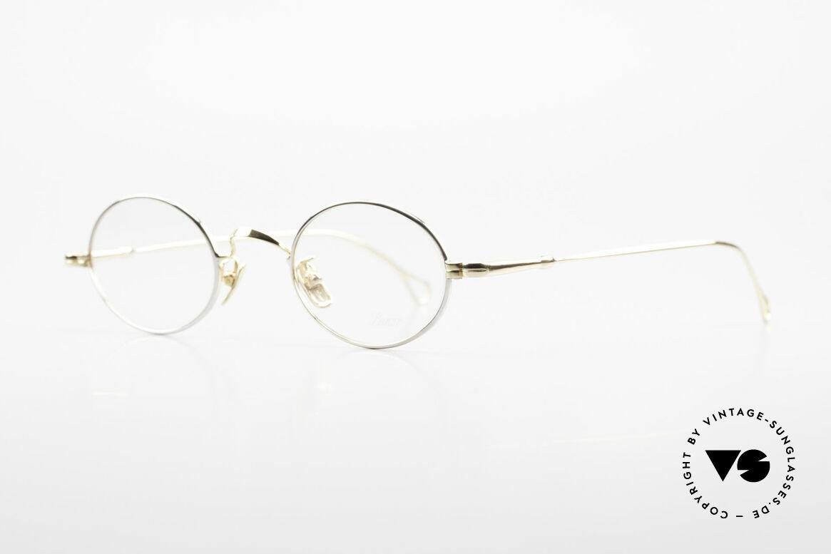 Lunor V 100 Oval Vintage Glasses Bicolor, model V100: oval eyeglass-frame, full rim (unisex specs), Made for Men and Women