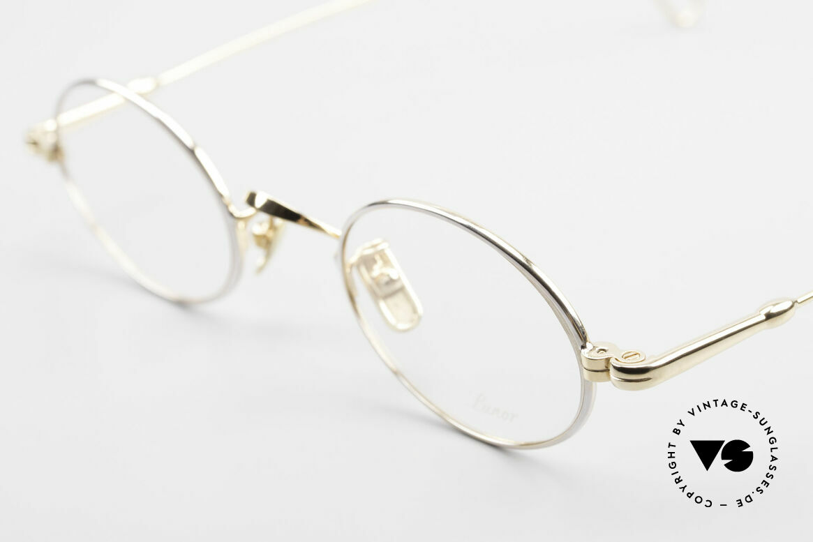 Lunor V 100 Oval Vintage Glasses Bicolor, BICOLOR = PLATINUM plated and 22ct GOLD-PLATED!, Made for Men and Women