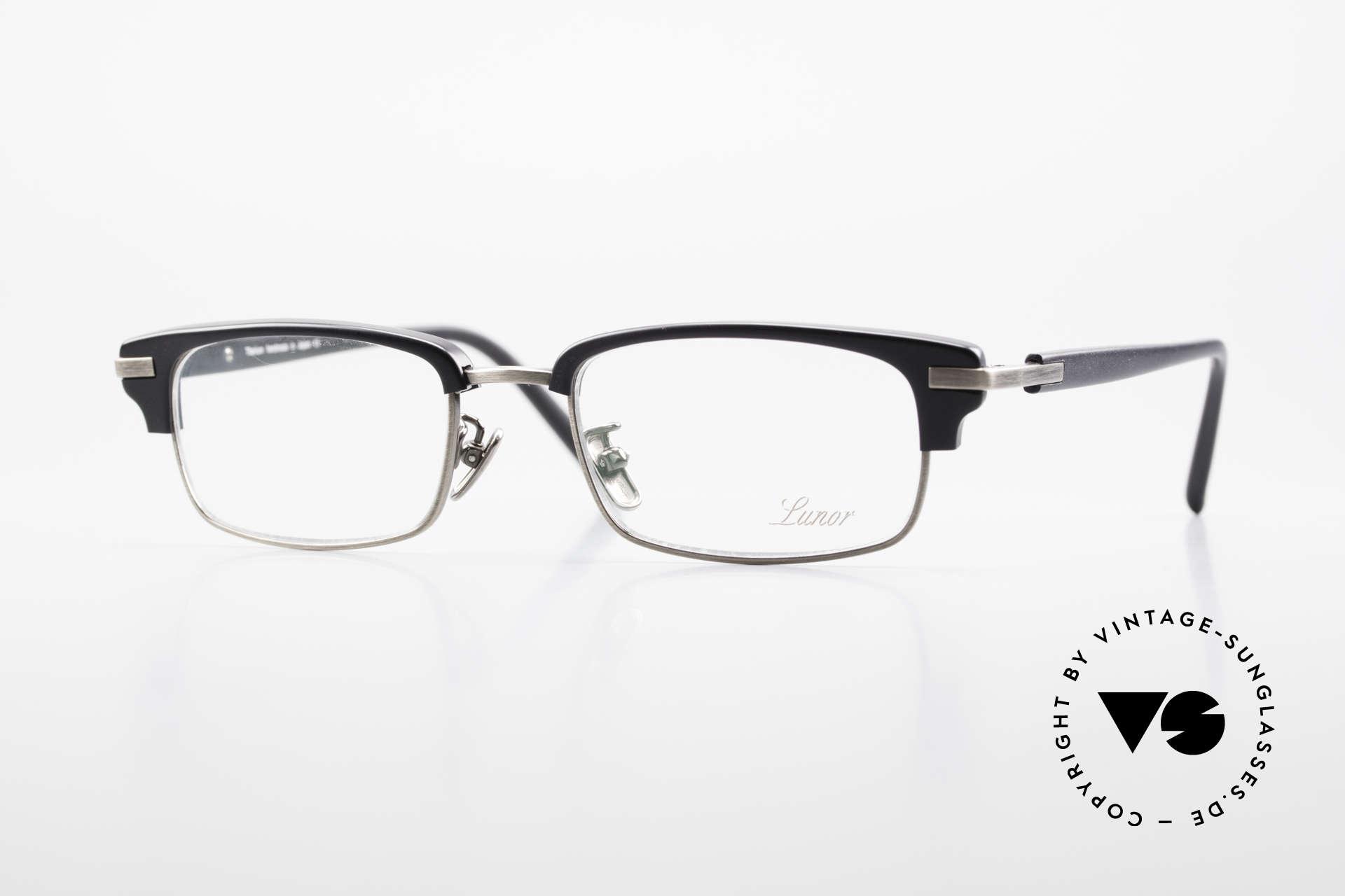 Lunor Combi II Mod 80 Combi Titanium Eyeglasses, Lunor Combi II model 80 AS (antique silver) eyeglasses, Made for Men and Women