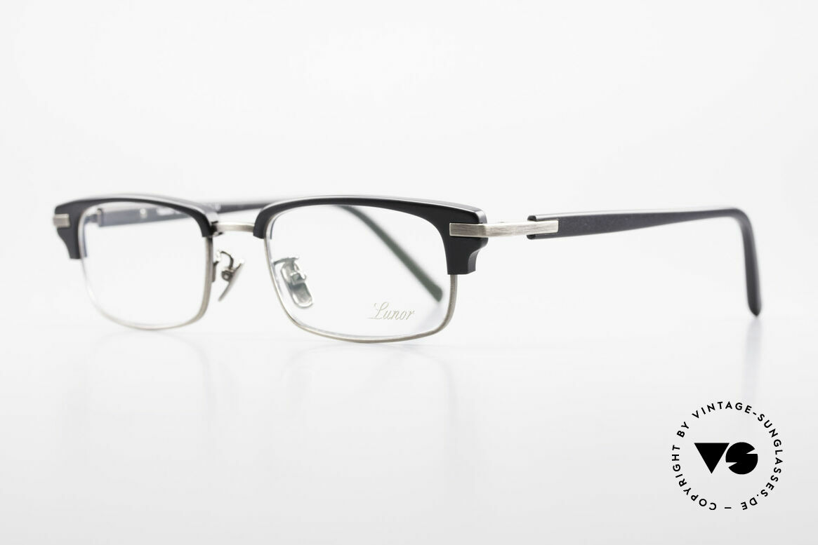 """Lunor Combi II Mod 80 Combi Titanium Eyeglasses, Lunor: shortcut for French """"Lunette d'Or"""" (gold glasses), Made for Men and Women"""