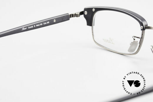 Lunor Combi II Mod 80 Combi Titanium Eyeglasses, timeless unisex model of the Lunor Collection from 2012, Made for Men and Women