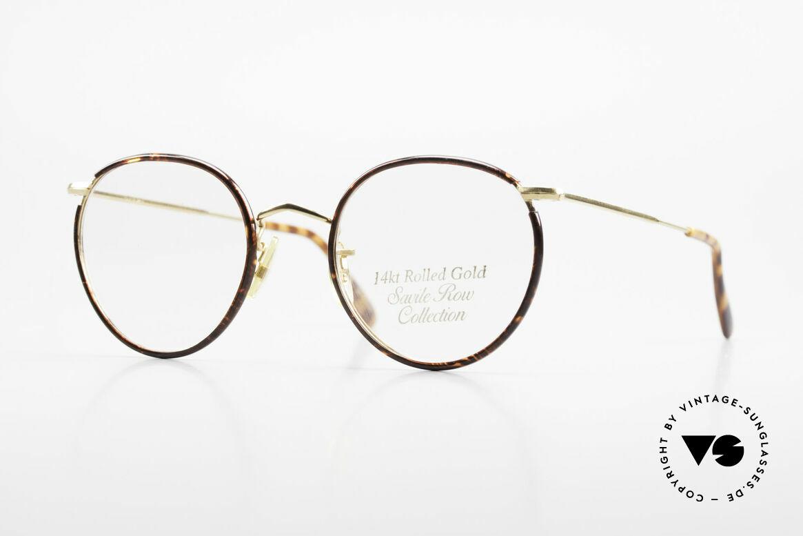 Savile Row Panto 49/20 Johnny Depp Glasses Panto, 'The Savile Row Collection' by ALGHA, UK Optical, Made for Men