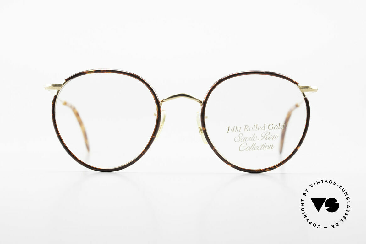 Savile Row Panto 49/20 Johnny Depp Glasses Panto, classic round vintage panto-glasses from the 80's, Made for Men