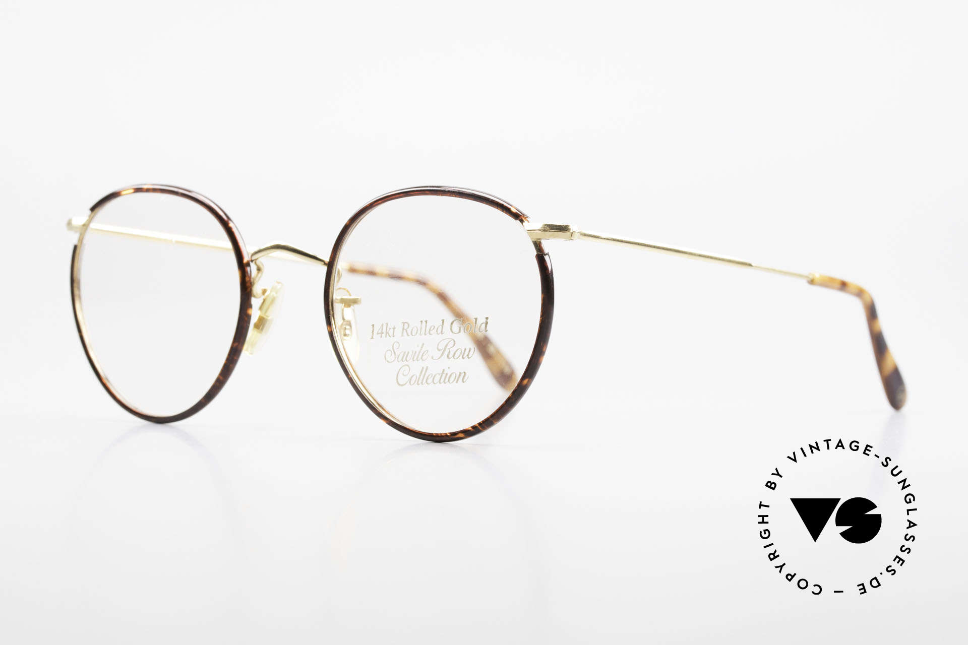Savile Row Panto 49/20 Johnny Depp Glasses Panto, finest manufacturing (rolled gold); made in the UK, Made for Men
