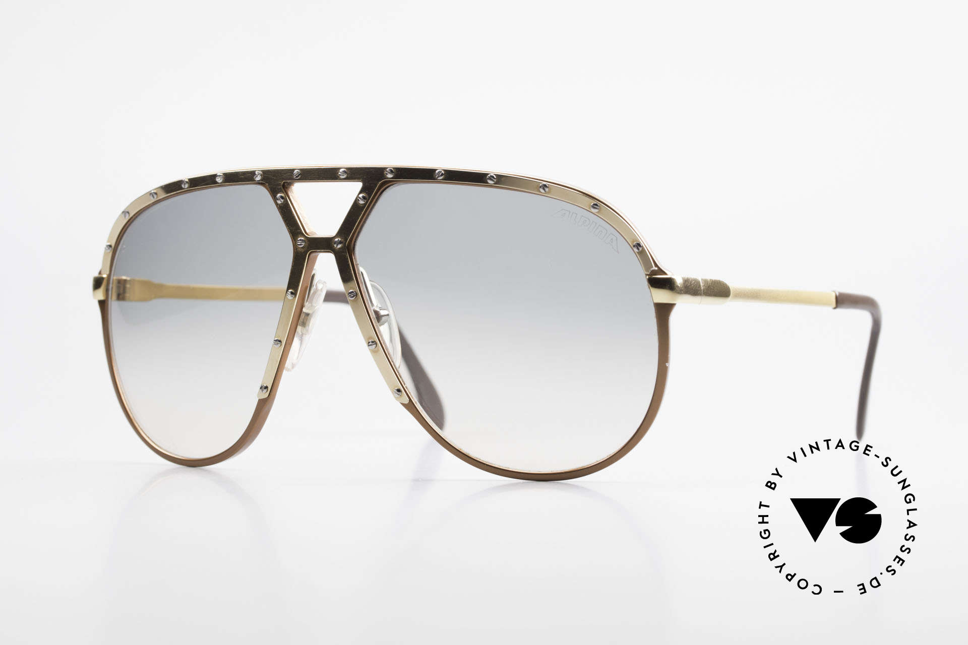 Alpina M1 Iconic 80's Shades XL Hip Hop, iconic 80's designer aviator shades by ALPINA, Made for Men