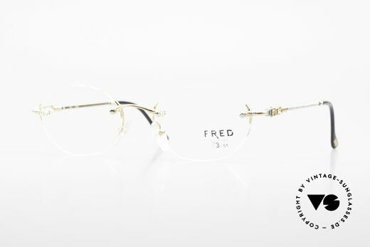 Fred Fidji Rimless Round Luxury Glasses Details