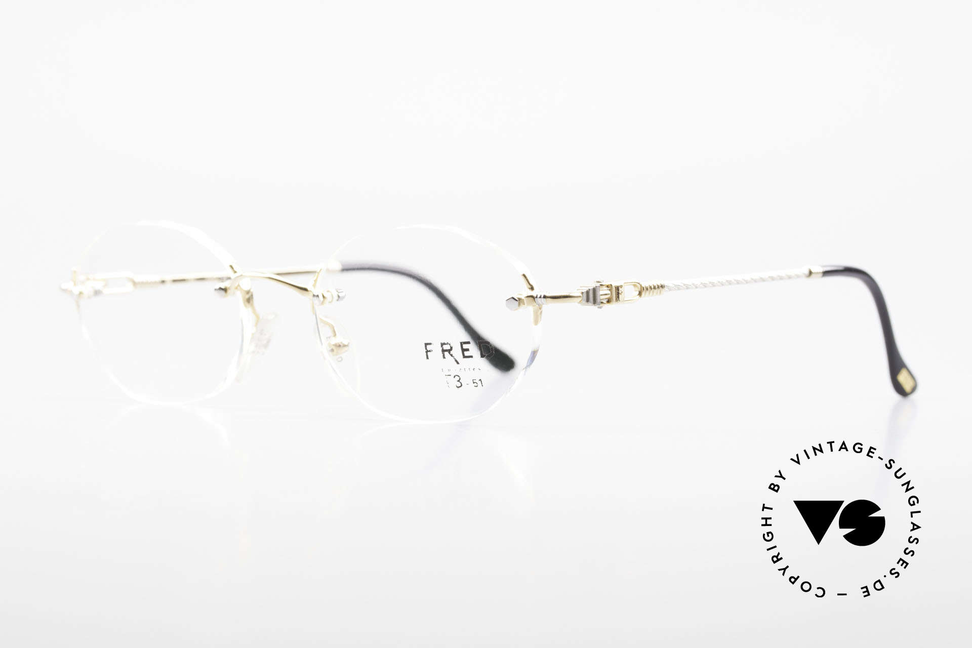 Fred Fidji Rimless Round Luxury Glasses, model named after the Fiji Islands (South Pacific Ocean), Made for Men and Women