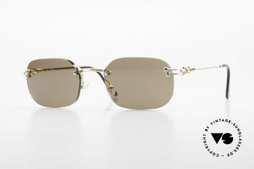 Fred Orcade Rimless Luxury Sunglasses 90s Details