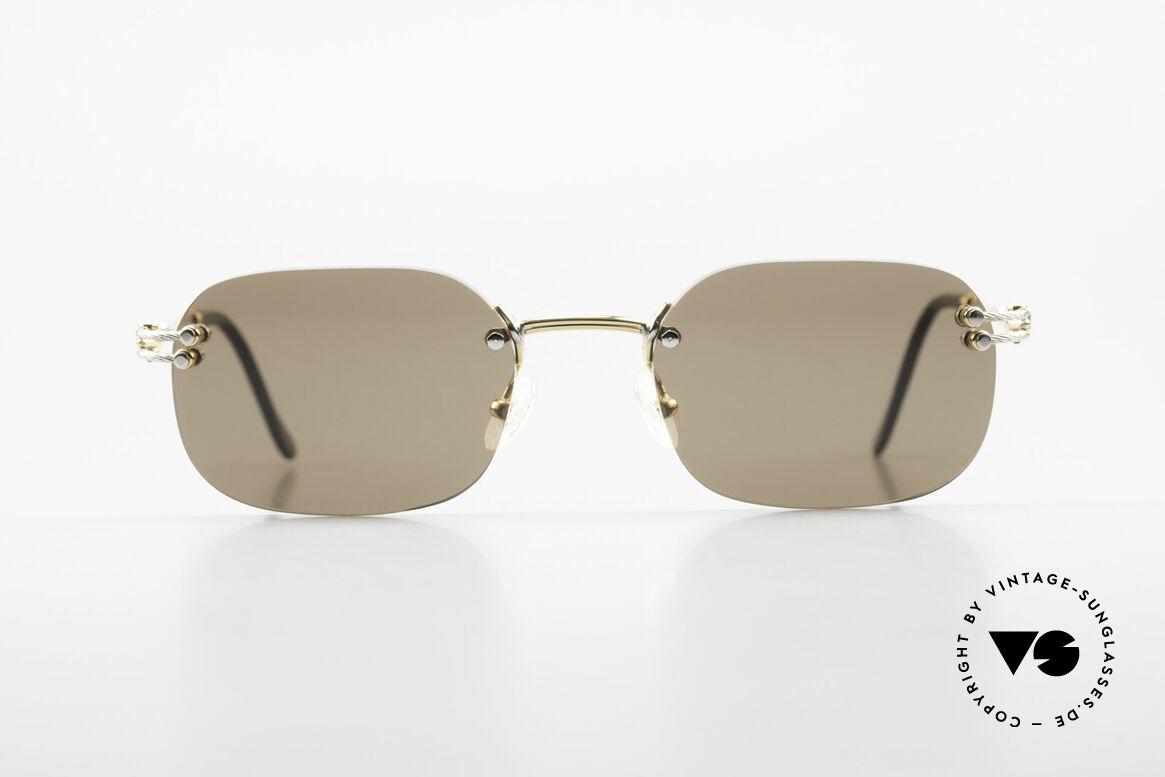 Fred Orcade Rimless Luxury Sunglasses 90s, Fred glasses, model Orcade, 54/20 with new sun lenses, Made for Men