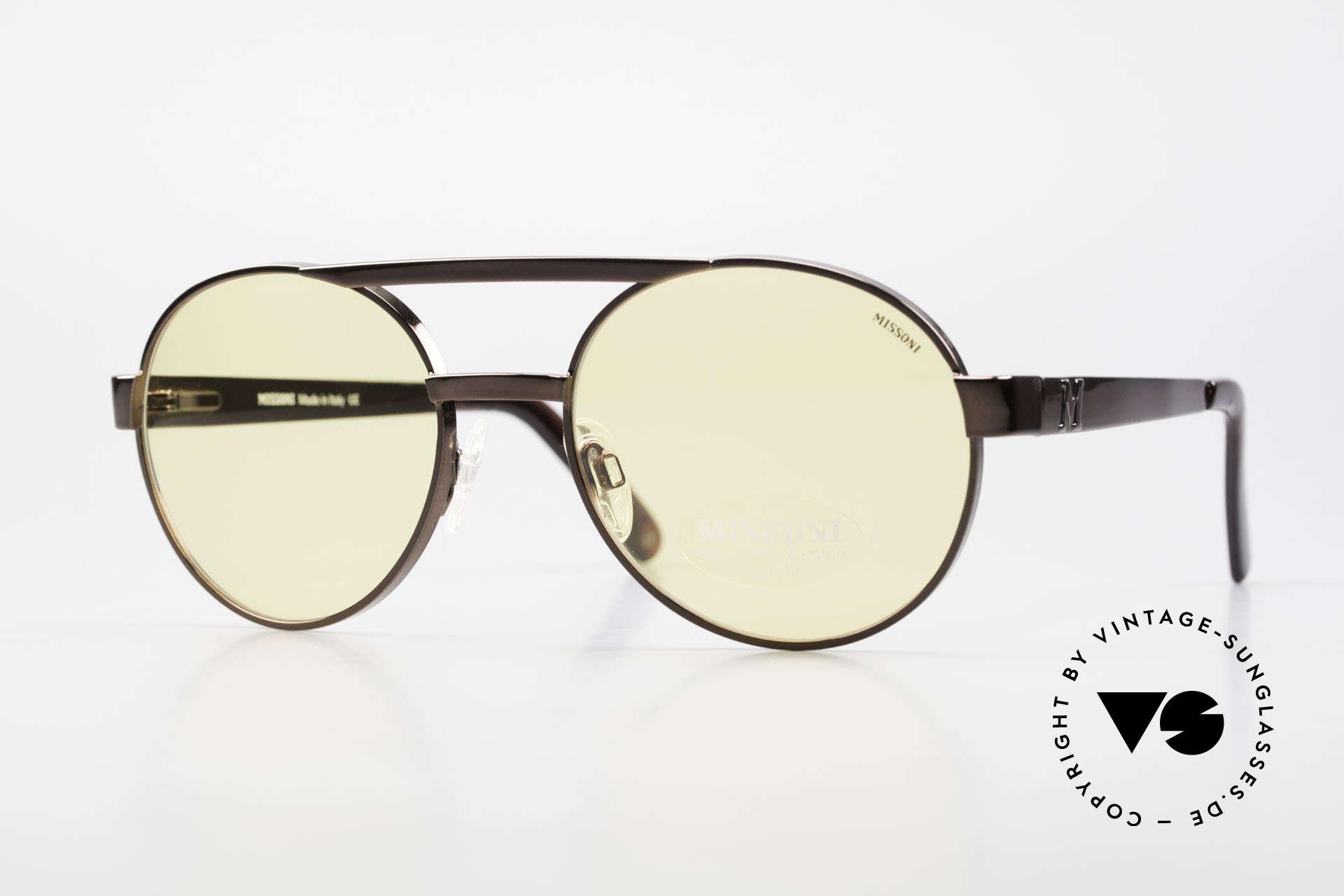 Missoni 0099 Round Panto 90's Sunglasses, MISSONI 0099 sunglasses, copper 091, 56-20, 140, Made for Men