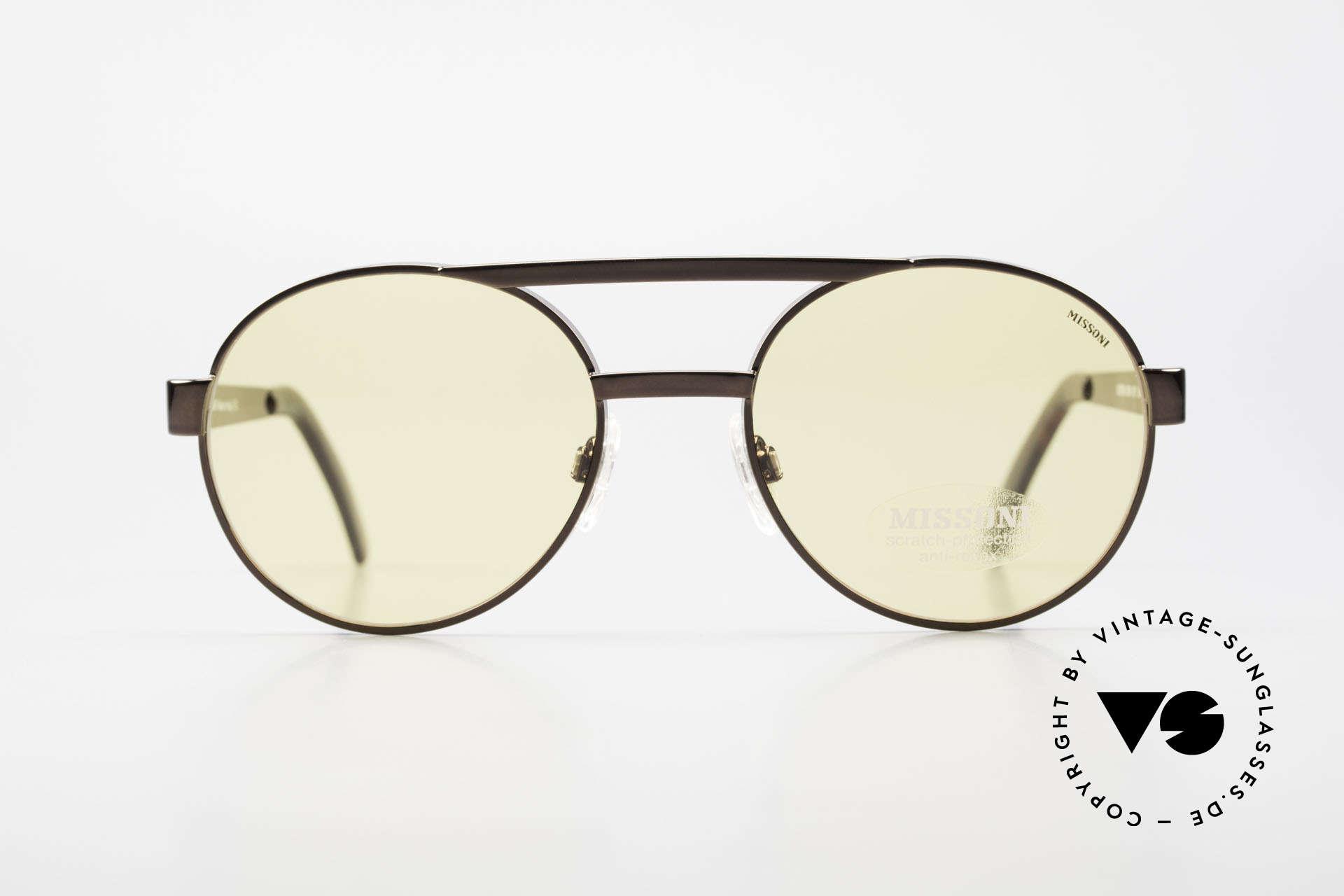 Missoni 0099 Round Panto 90's Sunglasses, extraordinary 1990's Panto Style men's sunglasses, Made for Men