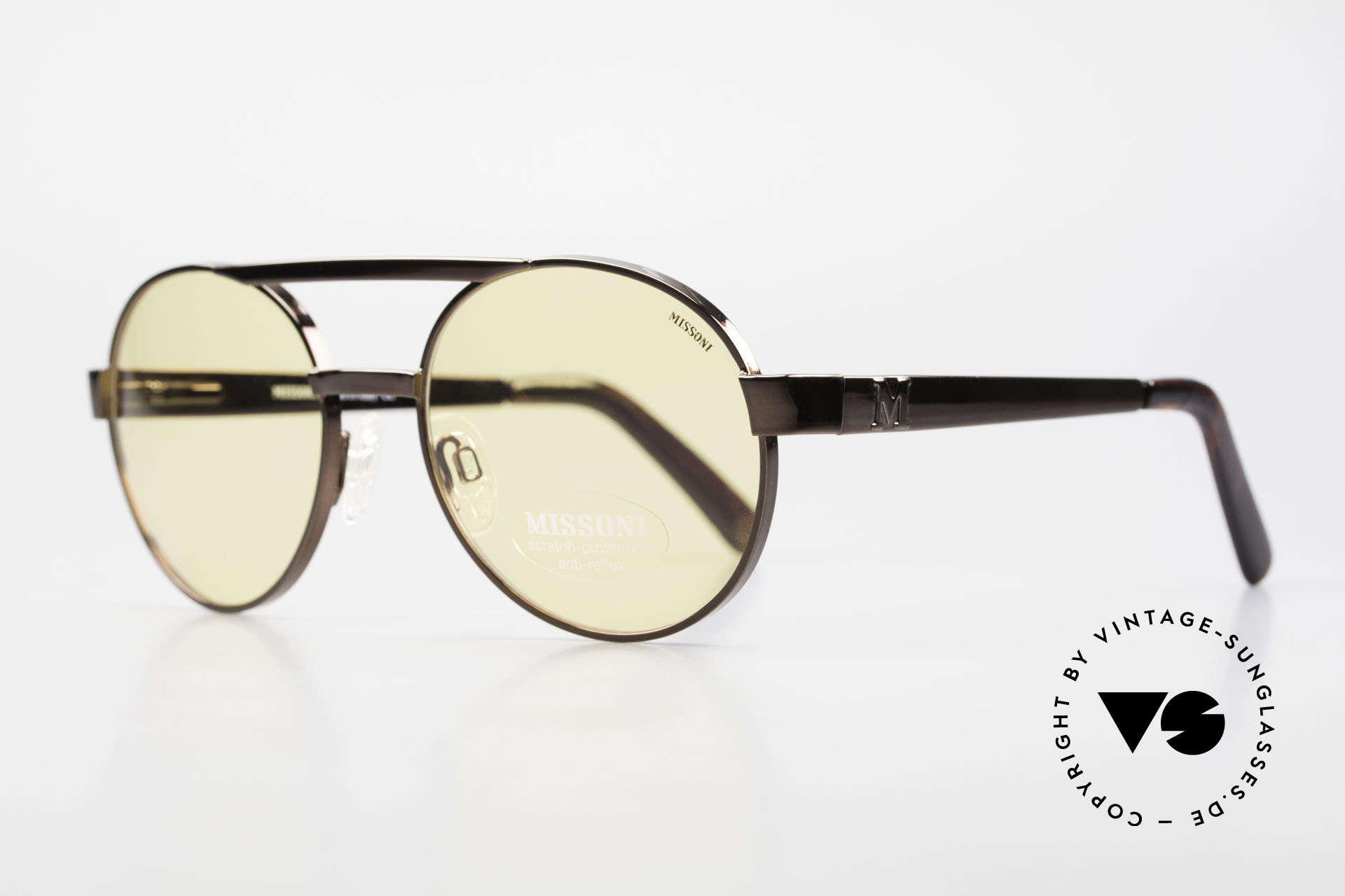 Missoni 0099 Round Panto 90's Sunglasses, very high wearing comfort thanks to spring hinges, Made for Men