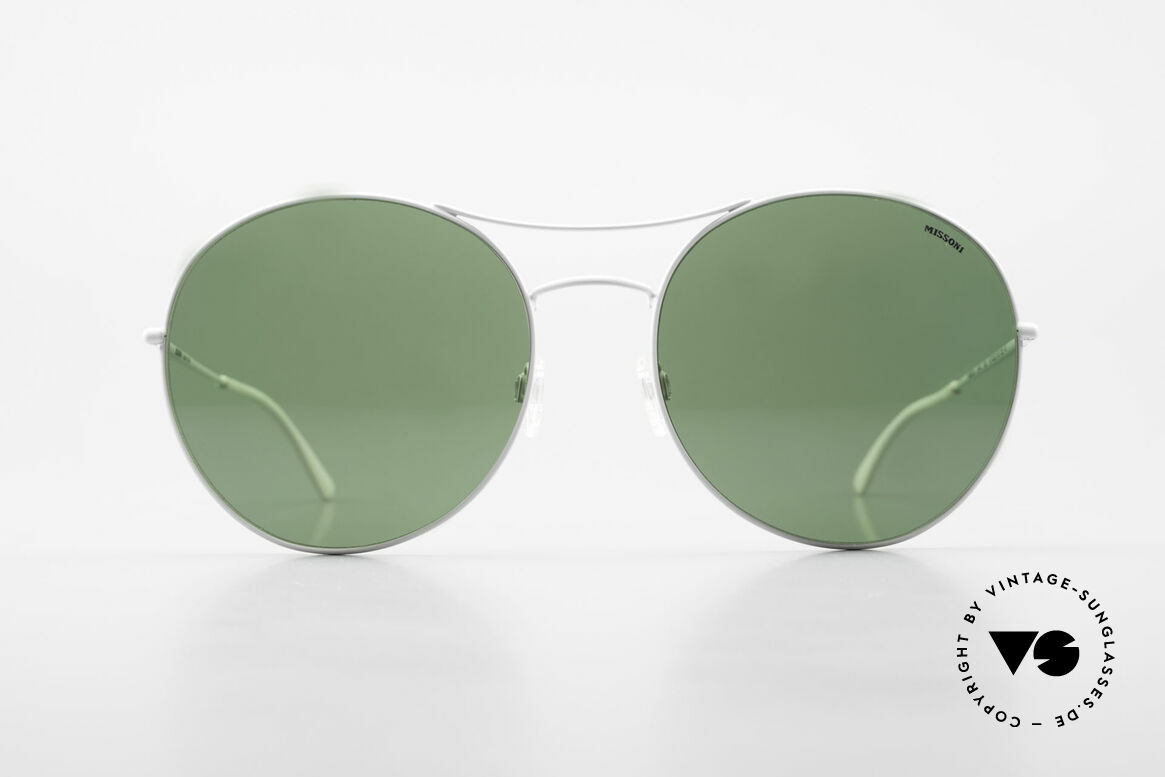 Missoni 0440 Oversized Aviator Sunglasses, 90s oversized aviator sunglasses, 64mm frame height, Made for Men and Women