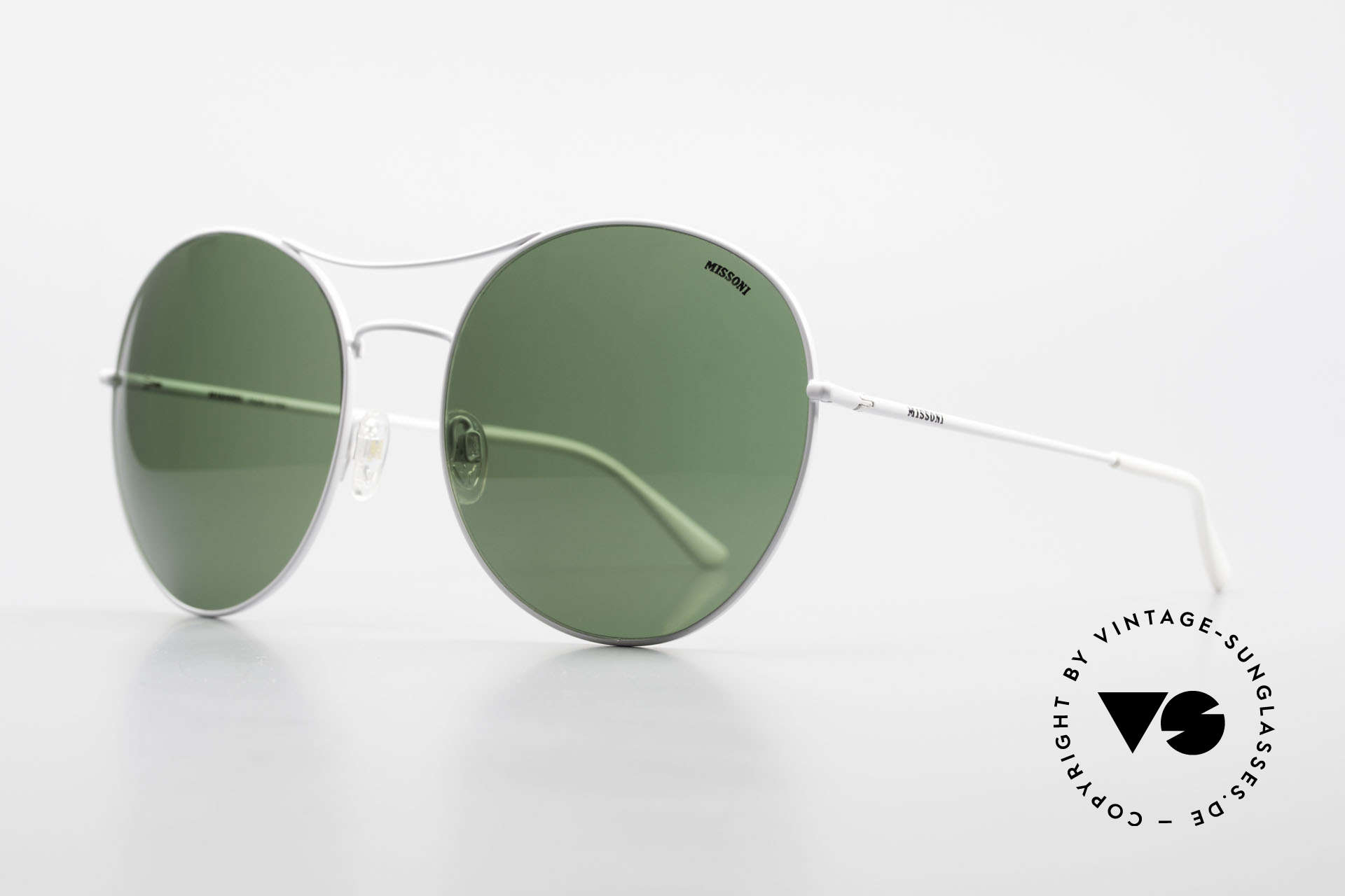 Missoni 0440 Oversized Aviator Sunglasses, true eye-catcher; top comfort thanks to spring hinges, Made for Men and Women