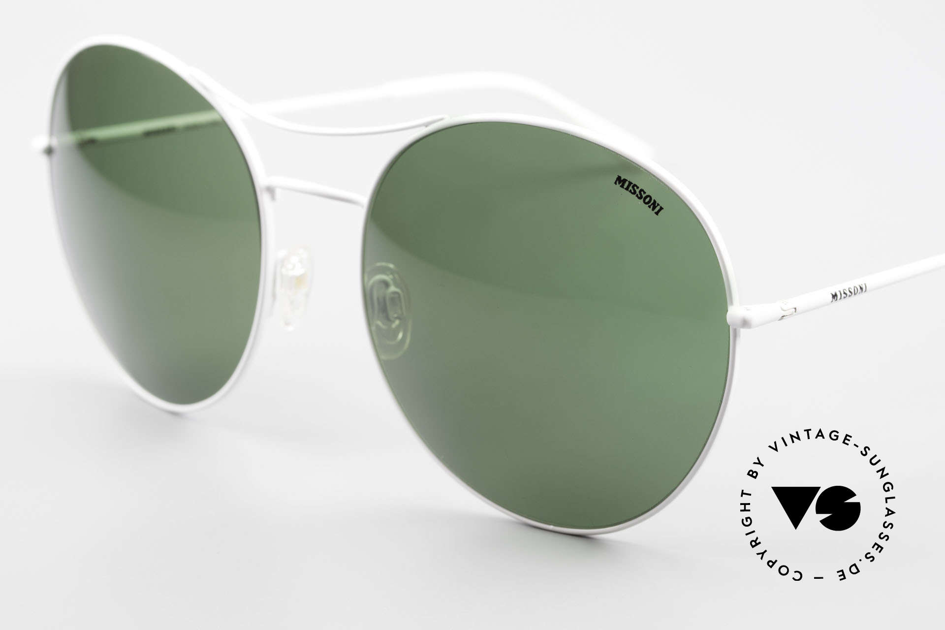 Missoni 0440 Oversized Aviator Sunglasses, grass-green sun lenses (100% UV) with Missoni logo, Made for Men and Women